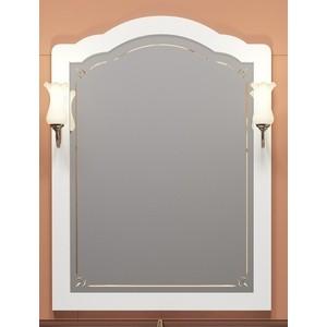 Зеркало Opadiris Лоренцо 80 с светильниками, белый матовый 9003 (Z0000008464 + 00000001041)