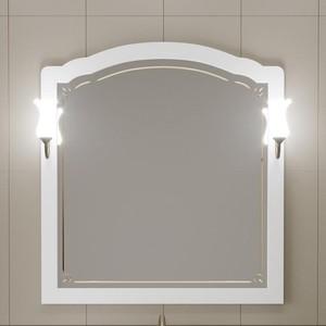 Зеркало Opadiris Лоренцо 100 с светильниками, белый матовый 9003 (Z0000008465 + 00000001041)