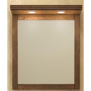 Зеркало Opadiris Мираж 65 с козырьком и подсветкой, светлый орех Р10 (Z0000004695 + Z0000004869) фото