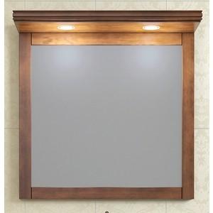 Зеркало Opadiris Мираж 80 с козырьком и подсветкой, светлый орех Р10 (Z0000006875 + Z0000007082)