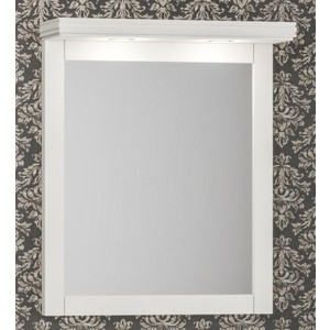 Зеркало Opadiris Мираж 65 с козырьком и подсветкой, слоновая кость 1013 (Z0000012518 + Z0000012520)