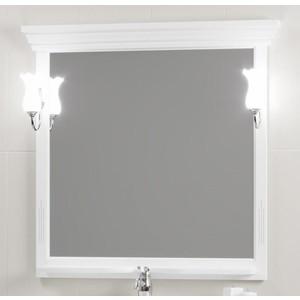 Зеркало Opadiris Риспекто 95 с светильниками, белый матовый 9003 (Z0000012538 + Z0000006243)