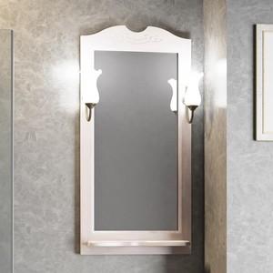 Зеркало с полкой Opadiris Тибет 50 светильниками, беленый бук (Z0000004146 + 00000001041)