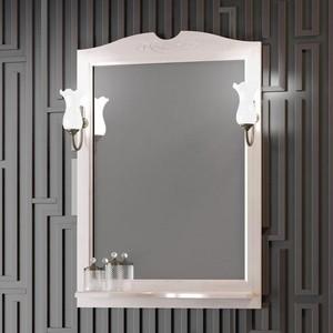 Зеркало с полкой Opadiris Тибет 70 светильниками, беленый бук (Z0000004191 + 00000001041)