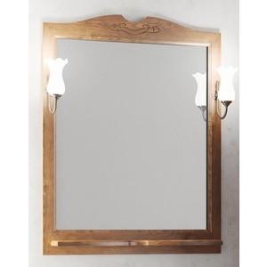 Зеркало с полкой Opadiris Тибет 80 с светильниками, нагал P46 (Z0000003204 + 00000001041) зеркало в деревянной раме opadiris тибет 80 нагал для светильников 00000001041 z0000003204