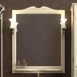 Зеркало с полкой Opadiris Тибет 70 с светильниками, слоновая кость 1013 (Z0000006628 + 00000001041) зеркало с полкой opadiris тибет 70 для светильников 00000001041 слоновая кость 1013 z0000006628