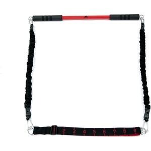 Гриф Adidas с эспандерами , Черный ADAC-11403