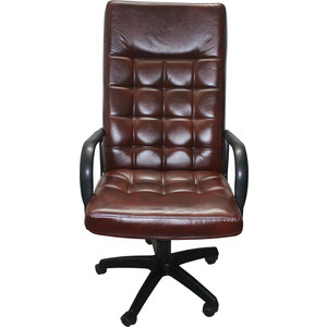 Кресло Союз мебель Шериф ТГ экокожа коричневая