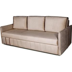 Диван-кровать DИВАН Слим (velutto 18 бежевый, 03 коричневый) арт 80327274