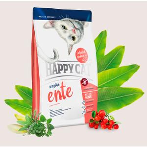Сухой корм Happy Cat Adult Sensitive Duck with Rice and Potato утка с рисом и картофелем для чувствительных кошек 1,4кг