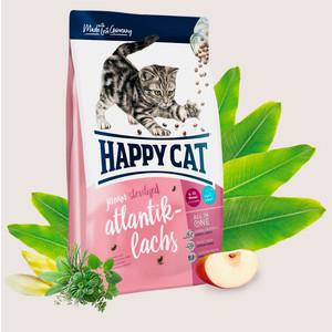 Сухой корм Happy Cat Supreme Junior Sterilised Atlantik-Lachs с атлантическим лососем для стерилизованных котят 4-12мес 1,4кг цены