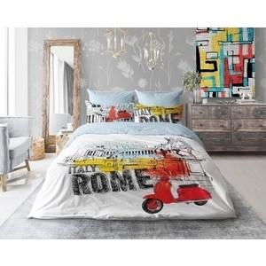 цена на Комплект постельного белья Love me евро, Holliday in Rome (711041)
