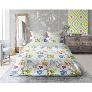 Комплект постельного белья Love me евро Fabulos flowers (711092)