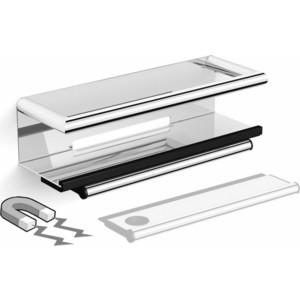 Полочка со стеклоочистителем Black&White SN-2351 хром (2351SN0)