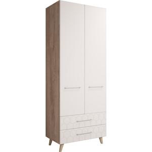 Шкаф 2-х дверный Комфорт - S Войтек М 1 дуб баррик/белая матовая стоимость