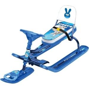 Снегокат Ника Тимка спорт ТС4-1 / КР2 с кроликом синий каркас