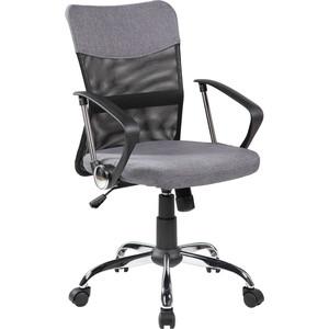 Кресло Riva Chair RCH 8005 черная сетка /ткань серая