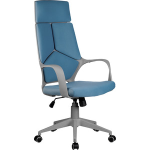 Кресло Riva Chair RCH 8989 серый пластик, синяя ткань (287)