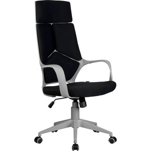 Кресло Riva Chair RCH 8989 серый пластик, черная ткань (54)