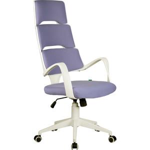 Кресло Riva Chair RCH Sakura белый пластик, лиловая ткань (274)