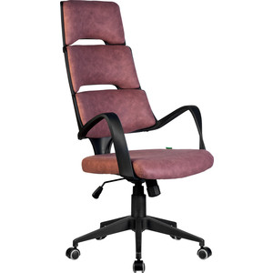 Кресло Riva Chair RCH Sakura черный пластик, ткань фьюжн терракота(190)