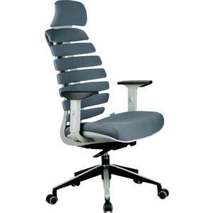 Кресло Riva Chair RCH Shark серый пластик, ткань серая (26-25)