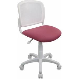Кресло детское Бюрократ CH-W296NX/26-31 спинка сетка белый TW-15 сиденье розовый 26-31 кресло бюрократ ch 799axsn black спинка сетка черный сиденье черный 26 28