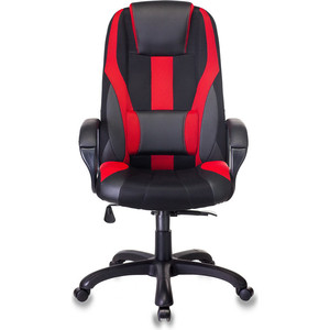 Кресло игровое Бюрократ VIKING-9/BL+RED черный/красный искусст.кожа/ткань фото