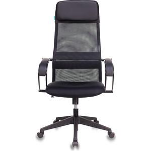 Кресло руководителя Бюрократ CH-608/BLACK спинка сетка черный TW-01 сиденье черный TW-11 искусст.кожа/ткань кресло бюрократ ch 799axsn black спинка сетка черный сиденье черный 26 28