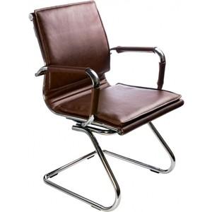 Кресло Бюрократ CH-993-Low-V/Brown низкая спинка коричневый искусственная кожа кресло руководителя бюрократ ch 879dg brown коричневый искусственная кожа пластик темно серый