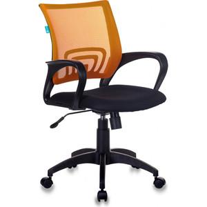 Кресло Бюрократ CH-695N/OR/TW-11 спинка сетка оранжевый TW-38-3 сиденье черный TW-11 кресло бюрократ ch 799axsn black спинка сетка черный сиденье черный 26 28