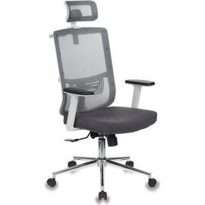 Кресло руководителя Бюрократ MC-W612-H/GR/GRAFIT серый BM-10 сиденье BAHAMA сетка/ткань крестовина хром (пластик белый)