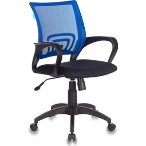 Кресло Бюрократ CH-695N/BL/TW-11 спинка сетка синий TW-05 сиденье черный TW-11 кресло бюрократ ch 799axsn black спинка сетка черный сиденье черный 26 28