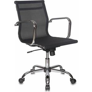 Кресло руководителя Бюрократ CH-993-LOW/M01 низкая спинка черный M01 сетка крестовина хром фото