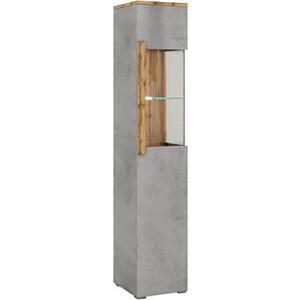 Шкаф-витрина 1-дверная Принцесса Мелания Римини 2017.М1 стекло справа