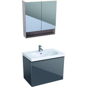 Мебель для ванной Geberit Acanto 75 лавовый матовый