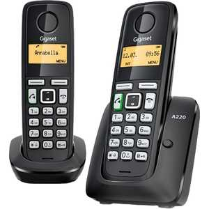 Радиотелефон Gigaset A220 Duo Black