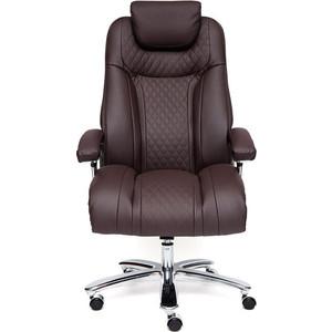 Кресло TetChair TRUST кож/зам, коричневый/коричневый стеганный/коричневый 36-36/36-36/6/36-36/06 цена и фото