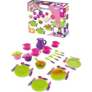 цена на Игровой набор Mochtoys посуды 42 предмета