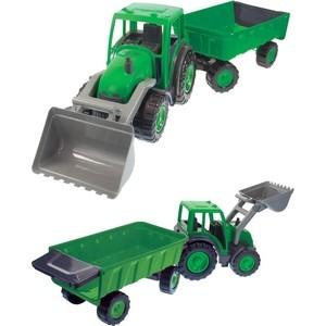 Игровой набор Mochtoys Трактор большой с ковшом и прицепом