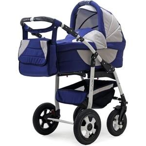 Коляска 2 в 1 Bart Plast SERENADE PCO 02N - синий-серый коляска трансформер indigo capri pco cp 06 бирюзовый серый