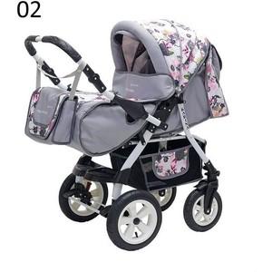 Коляска прогулочная Polmobil KARINA PCO 02 серый-розовый