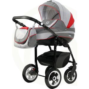 Коляска 3 в 1 Rant FABIO 02 серый красный коляска 3 в 1 cam comby taski fashion 658 серый белый