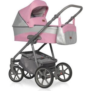 Коляска 2 в 1 Riko Basic COLIN 01 серый-розовый рюкзак 3020804408 2 розовый серый