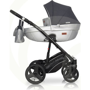 Коляска 3 в 1 Riko Basic AICON 08 графит -серый коляска 3 в 1 cam comby taski fashion 658 серый белый