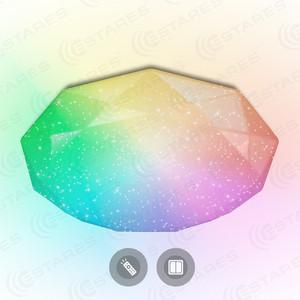 Потолочный светильник Estares ALMAZ 60W RGB R-500-SHINY/WHITE-220V-IP44
