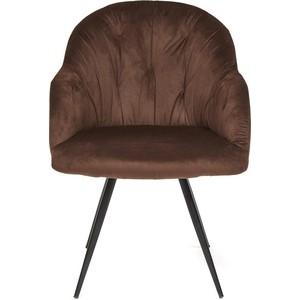 Кресло TetChair LIVORNO (mod.1602) металл/ткань коричневый вельвет