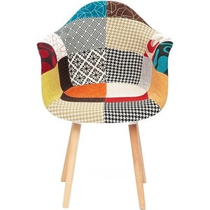 Кресло TetChair Secret De Maison CINDY SOFT (EAMES) (mod. 920) дерево береза/металл/мягкое сиденье/ткань мультицвет