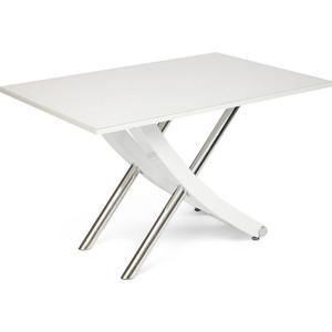 Стол TetChair ARNO (mod.EDT-H016) мдф high gloss закаленное стекло, металл White