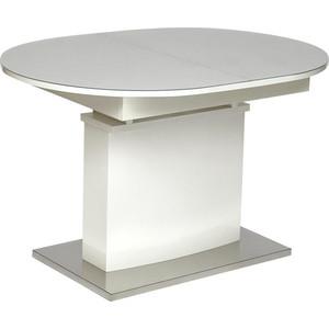 Стол TetChair COSMOS (mod.EDT-HE14) мдф high glossy закаленное стекло 120/160x80x76 см белый